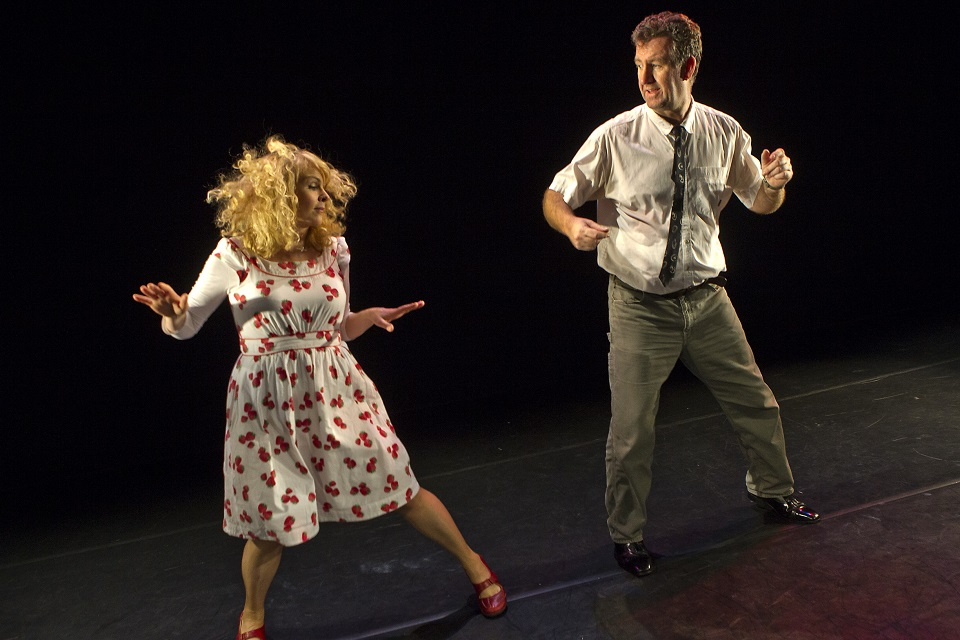 Steve Blount and Janet Moran in Fishamble's Swing, photo by Pat Redmond