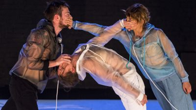 Watch the effects of breathing on the dancer's body in 10,000 Litres