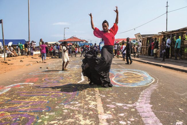 Out of the System: Yinka Esi Graves. Credit: Mantse Aryeequaye at Chale Wote Festival, Ghana