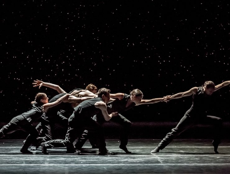 Artists of Ballet BC in Solo Echo. Photo by Sharen Bradford.