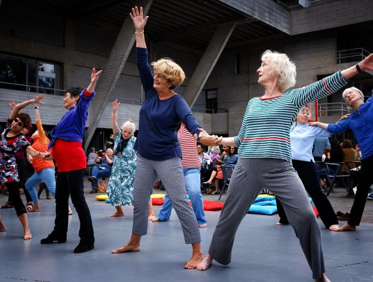 Rambert Over 60s Dance Class. Photo by James Bellorini