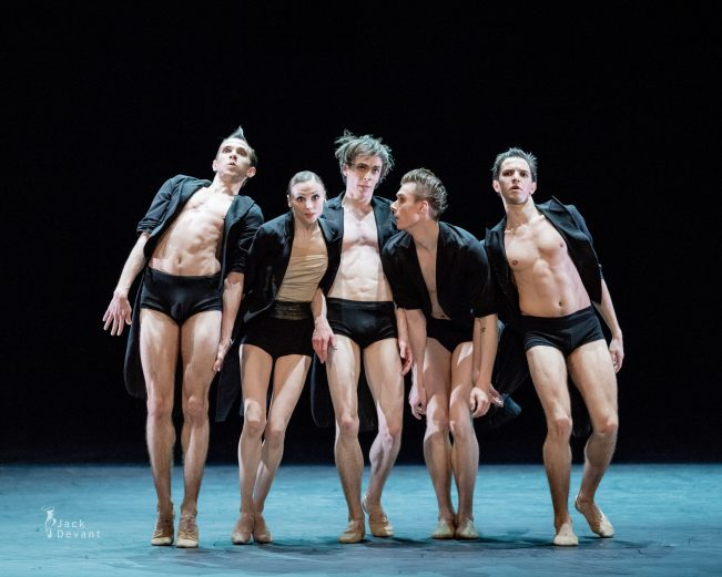 AMORE featuring Svetlana Zakharova (second from left) in Strokes of the Tail. Photo by Jack Devant