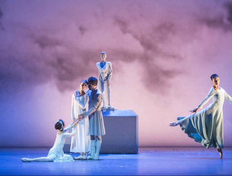 Jillian Vanstone, Hannah Fischer, Piotr Stanczyk and Xiao Nan Yu in The Winter's Tale. Photo by Aleksandar Antonijevic.
