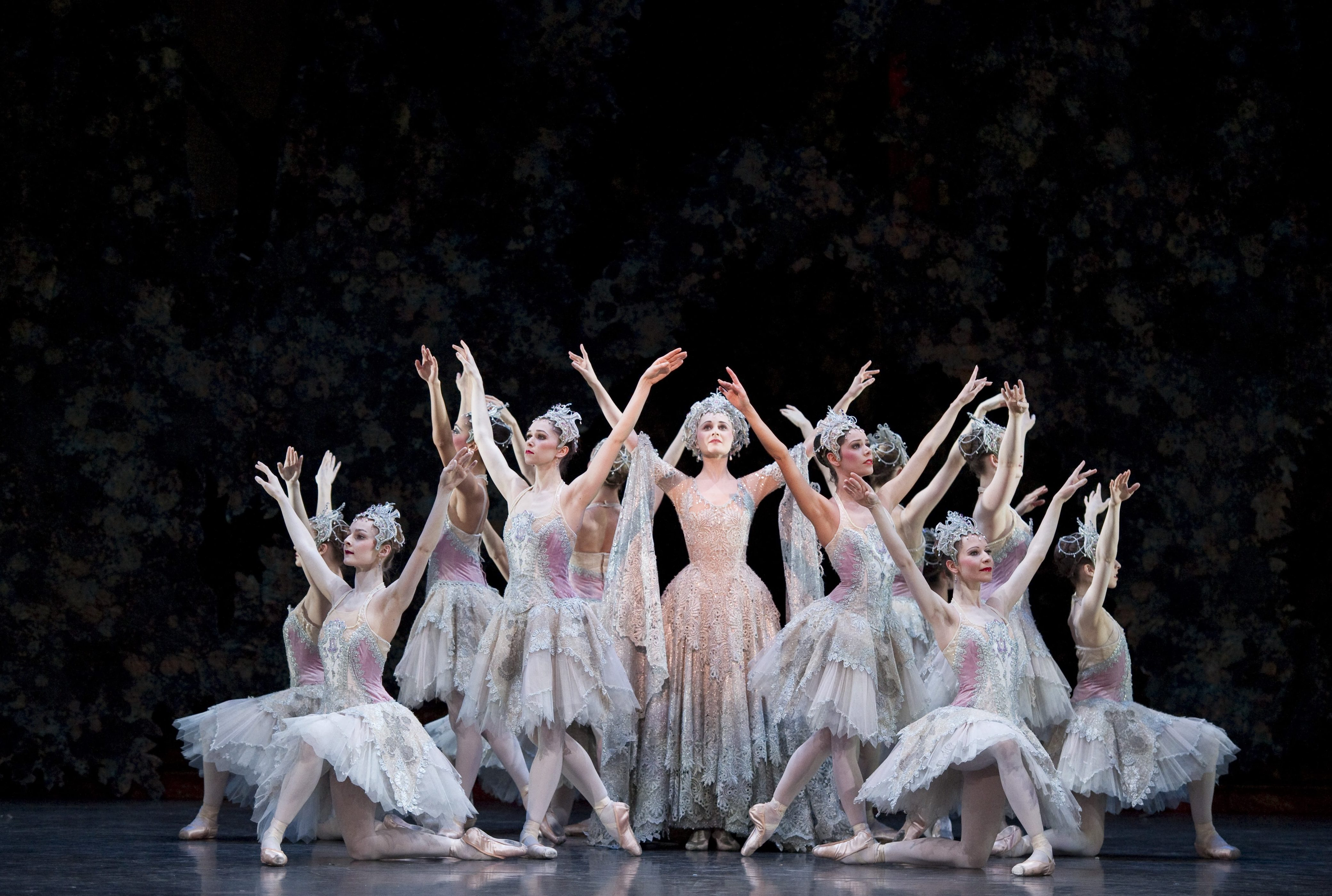 The Sleeping Beauty: Jenna Roberts as the Lilac Fairy with Artists of Birmingham Royal Ballet. Photo by Bill Cooper