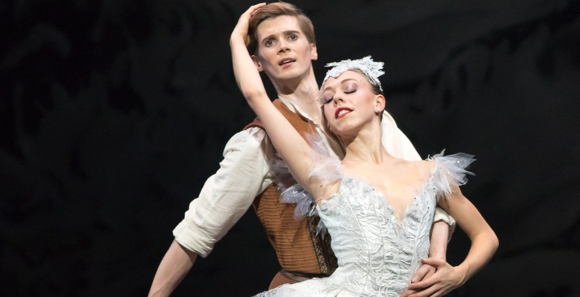 Constance Devernay and Andrew Peasgood of Scottish Ballet in Kenneth MacMillan's The Fairy's Kiss. Photo by Andy Ross