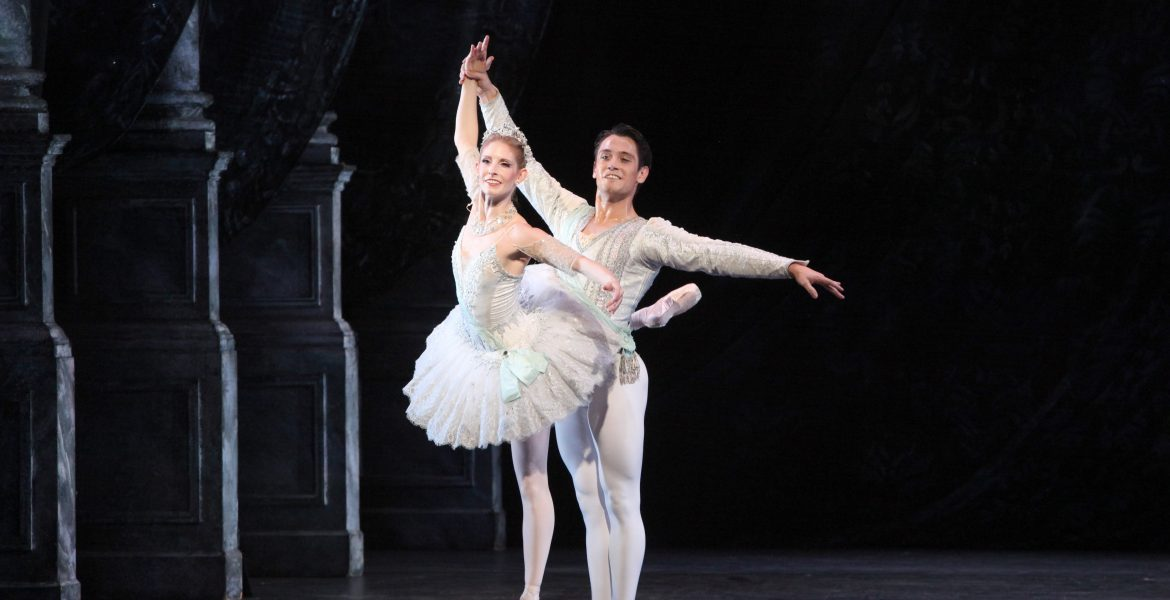 Kate Honea and Lucas Erni in George Balanchine's Theme and Variations. Photo by Frank Atura