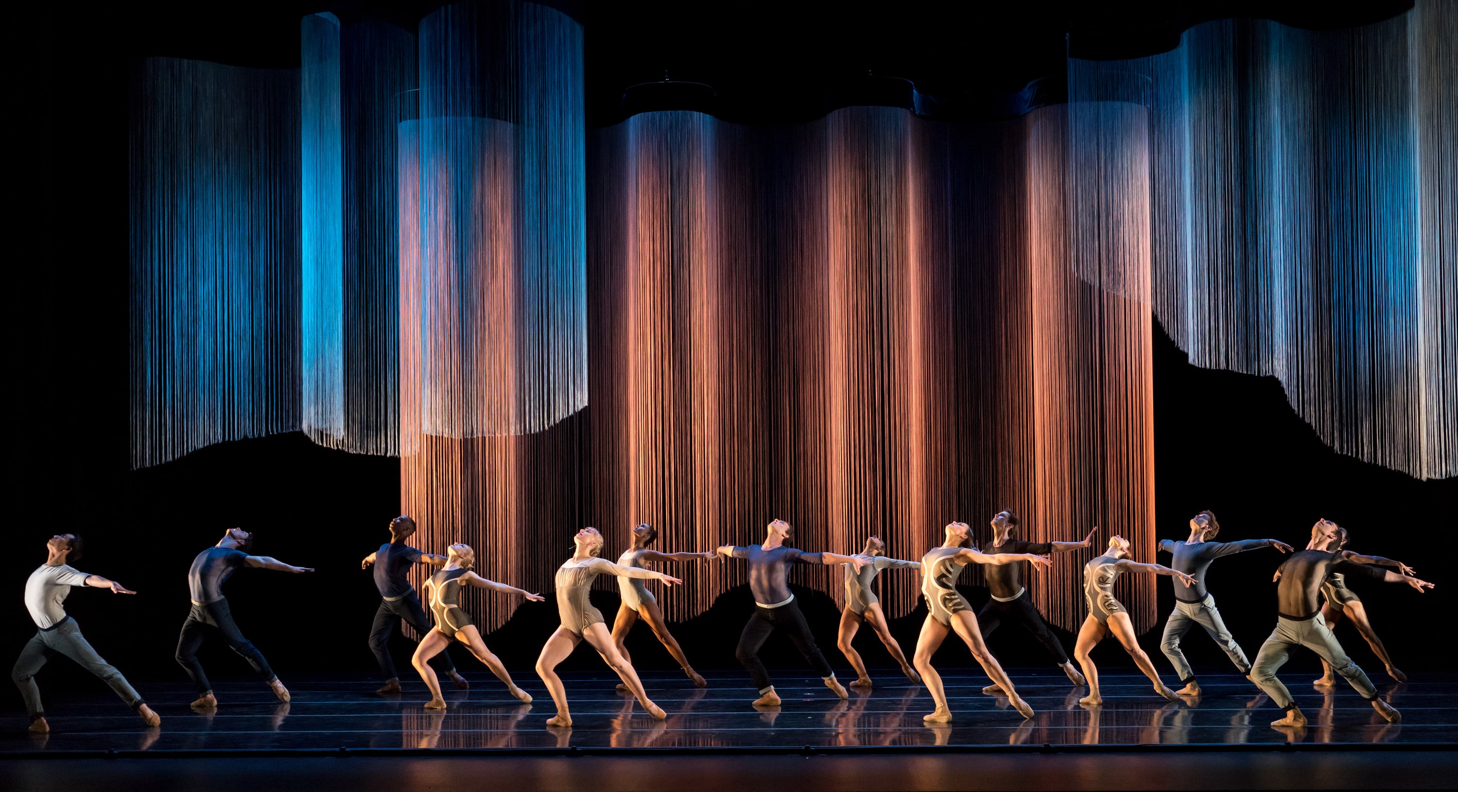 The Smuin Contemporary American Ballet company performs Helen Pickett's Oasis, given its world premiere as part of Smuin's Dance Series Two during its 2015/2016 season. Photo credit: Keith Sutter