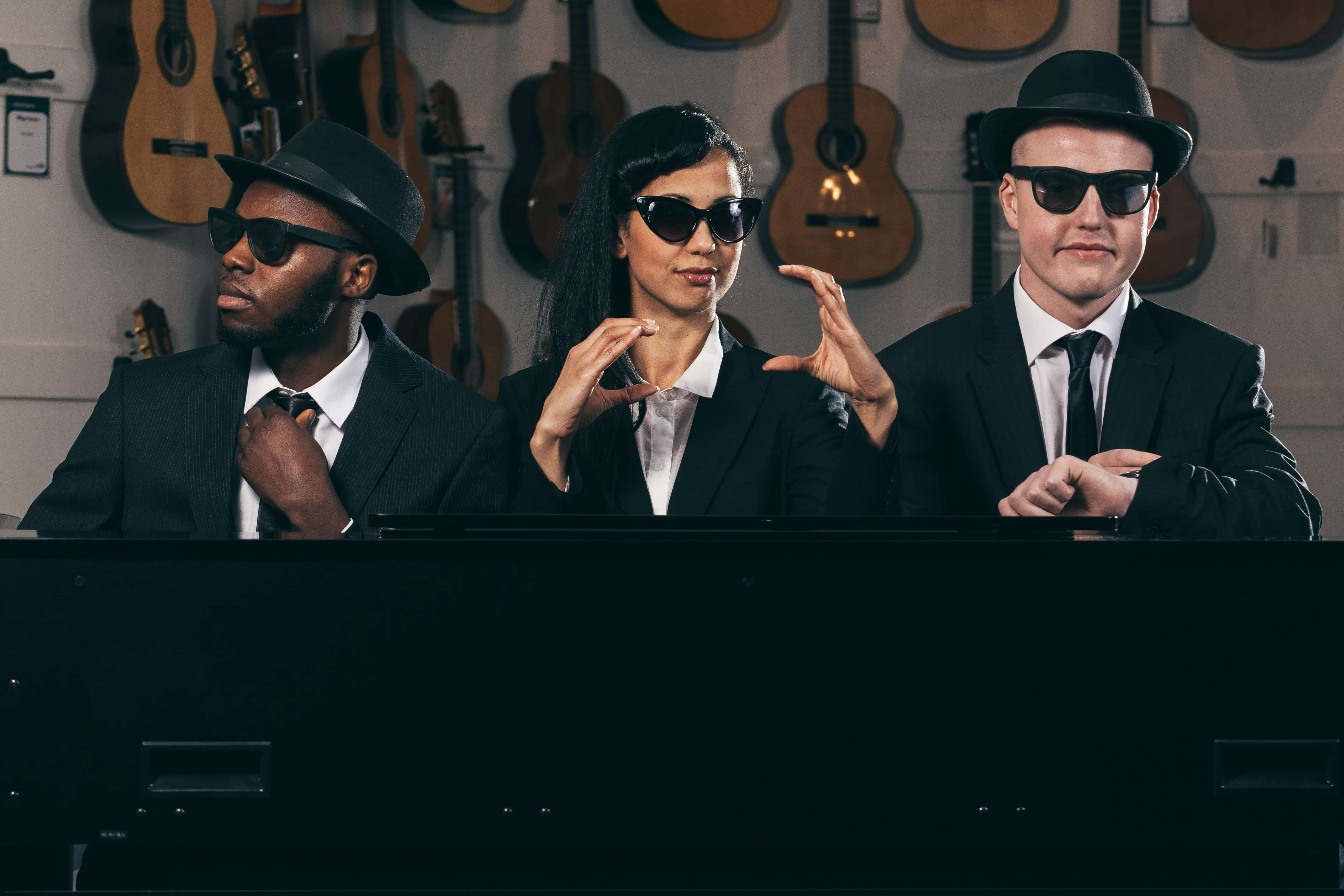 11 Million Reasons to Dance. Blues Brothers ft Chris Fonseca (left). Picture by Sean Goldthorpe.