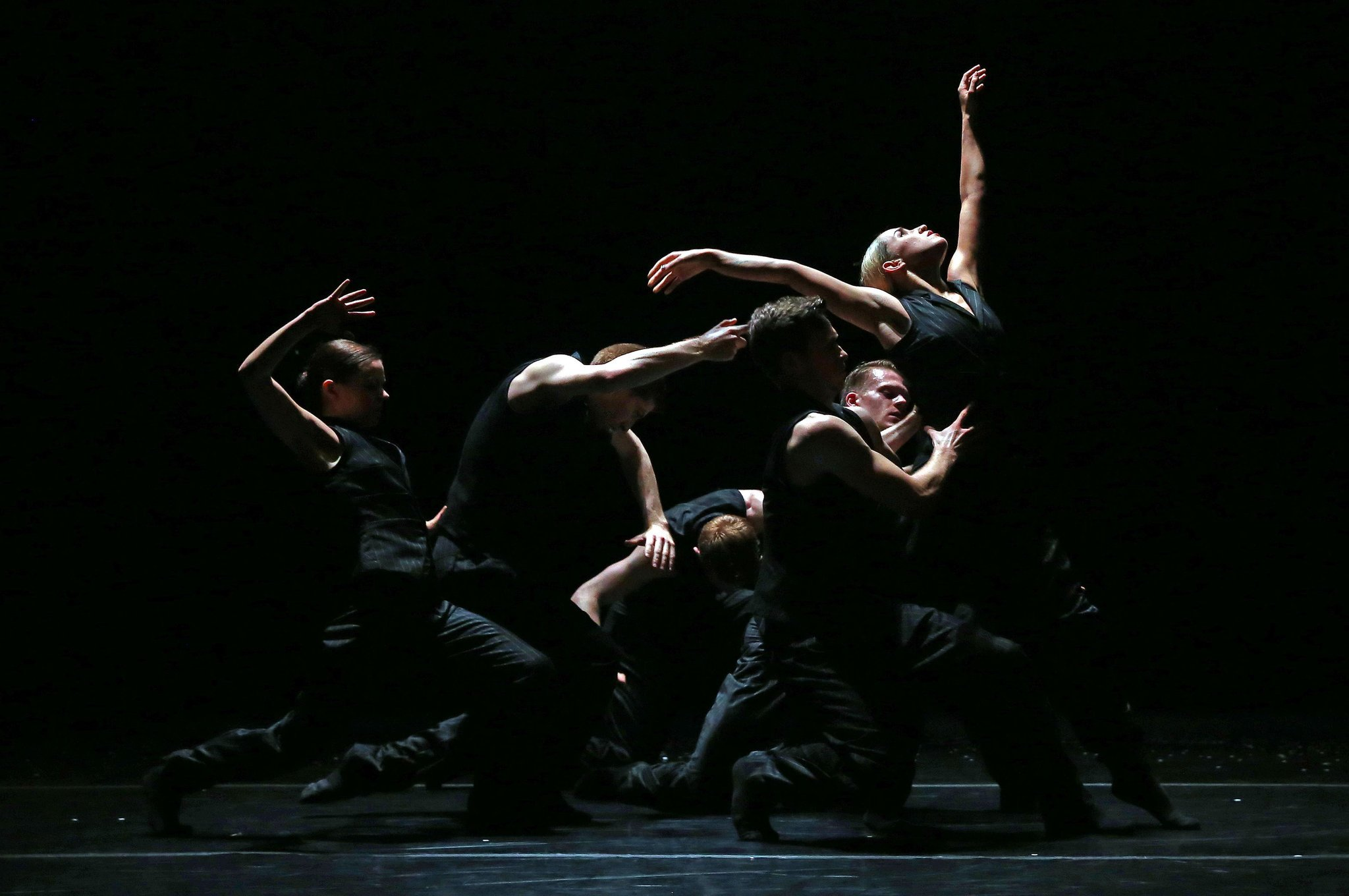 """Ballet BC- """"Solo Echo,"""" a dance full of yearning choreographed by Crystal Pite, an alumna of Ballet Frankfurt, at the Joyce Theater on Wednesday. Credit Andrea Mohin:The New York Times"""