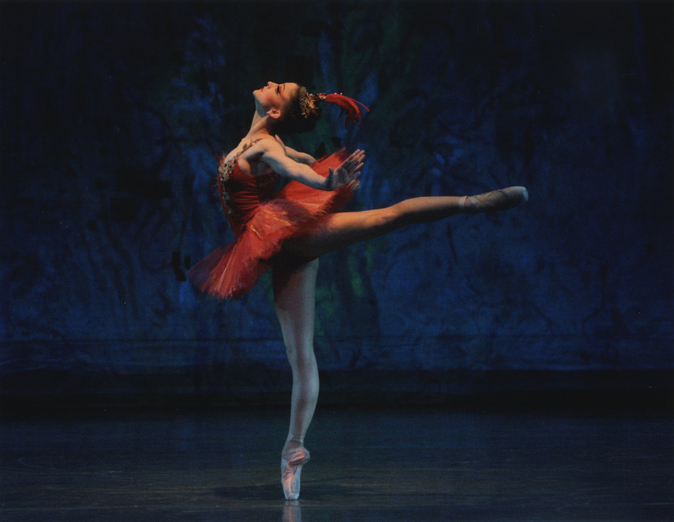 Ashley Bouder in George Balanchines' Firebird, New York City Ballet. Photo credit: Paul Kolnik