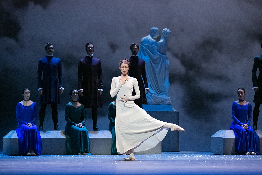 Hannah Fischer with Artists of the Ballet in The Winter's Tale. Photo by Karolina Kuras.