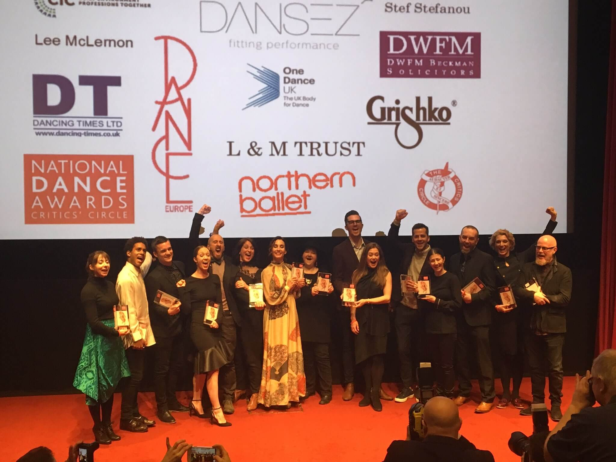 National Dance Awards 2017 winners at the Barbican Centre. Source: Twitter @NatDanceAwards